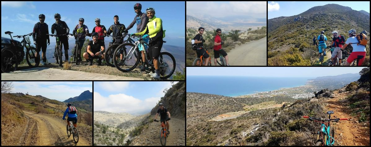Collage Photos of our MTB Adventures in Crete Greece