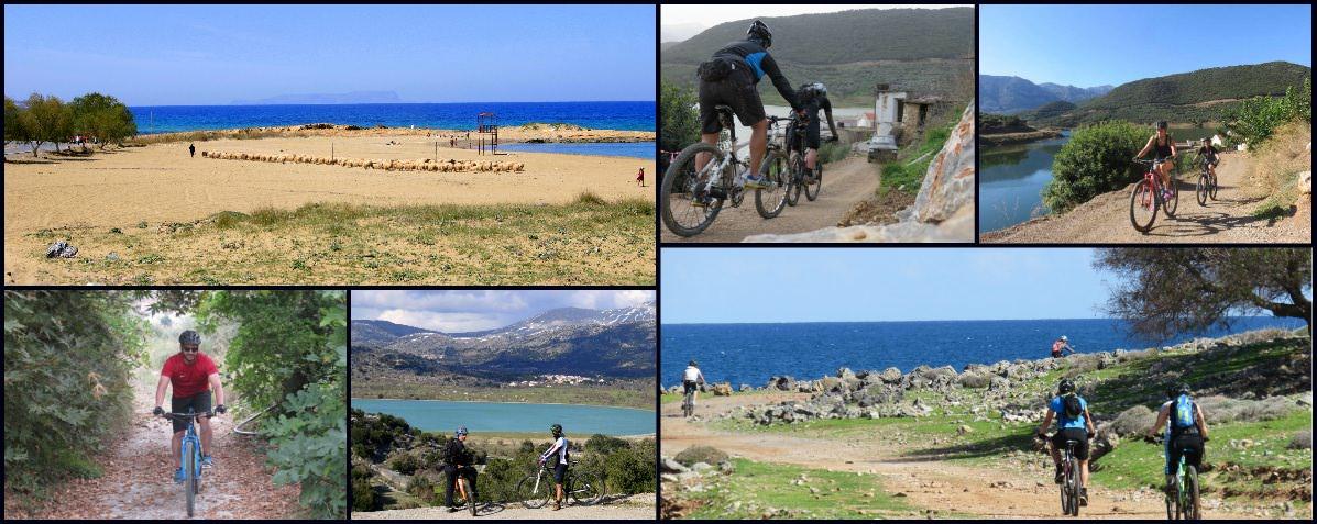 Collage Photos of our MTB Tours Crete